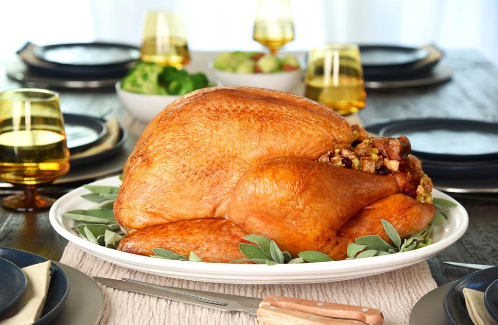 sage and sausage stuffed roasted turkey